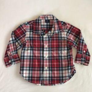 Baby Gap Boys Plaid Button Down Shirt